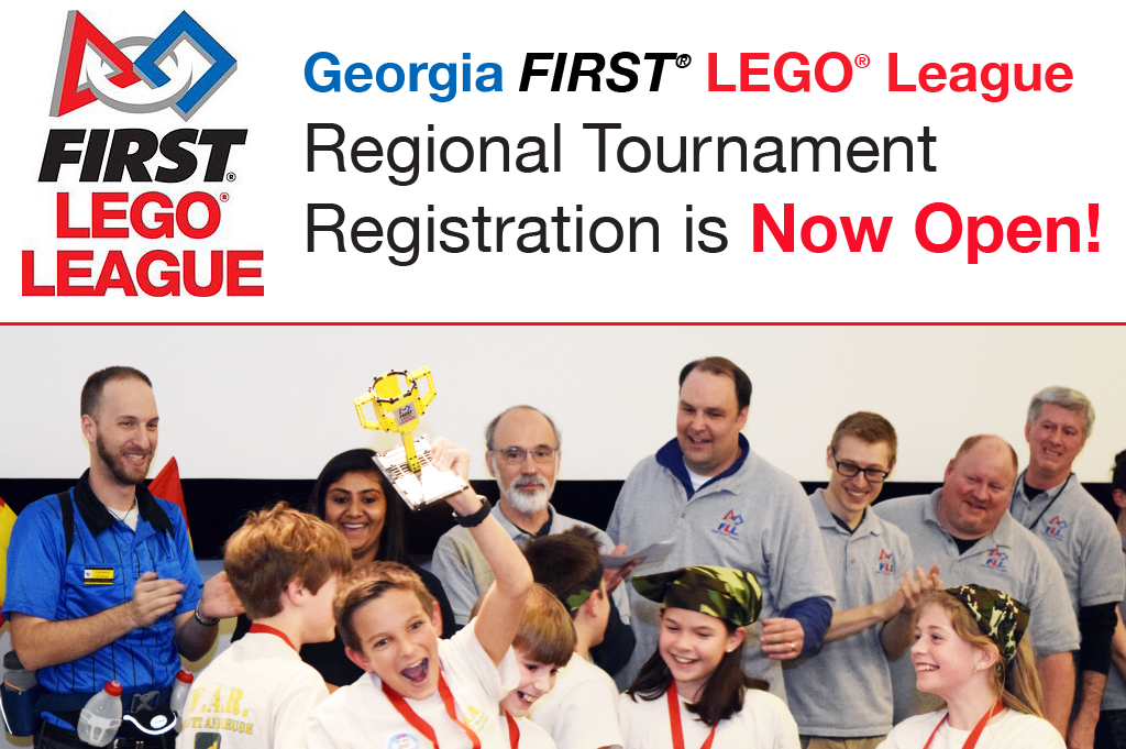 Georgia FIRST LEGO League Toutnament Registration is now open!